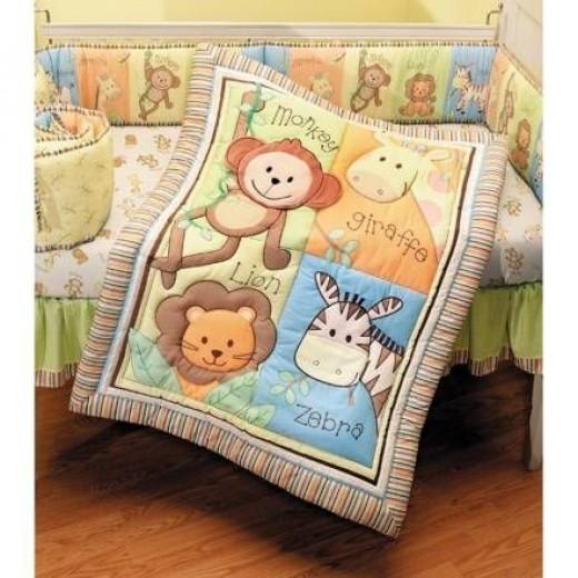 Summer Infant 4 Piece Monkey Jungle Collection Crib Set