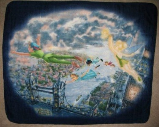 Disney Peter Pan and Tinker Bell Fly to Neverland Fleece
