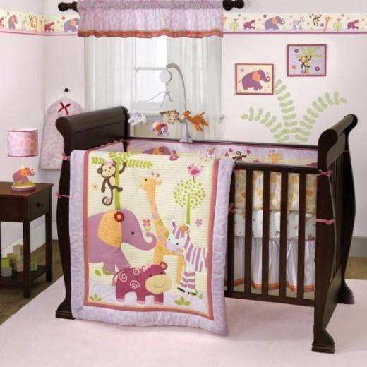 Bedtime Originals Lil' Friends 3 Piece Crib Bedding Set