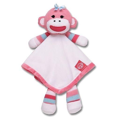 Pink Sock Monkey Snuggle Buddy