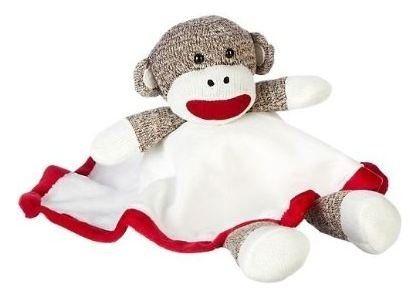 Sock Monkey Snuggle Buddy Security Blanket