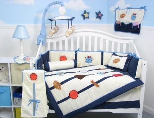 SoHo All Stars Sports Baby Crib Nursery Bedding Set
