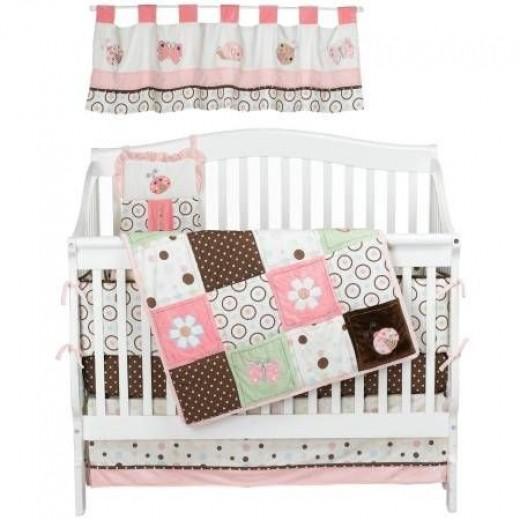 NoJo Ladybug Lullaby 6 Piece Crib Set