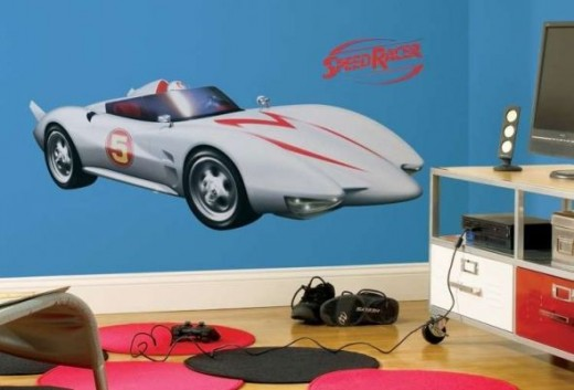 Speed Racer Mach 5 Peel  Stick Giant Wall Decal