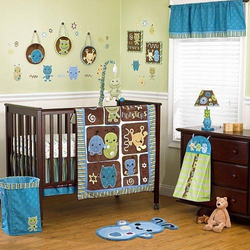 Cocalo Peek-a-boo Monsters 7-piece Crib Bedding Set