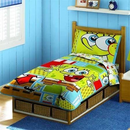 Spongebob Squarepants Toddler Bedding Set - 4-piece