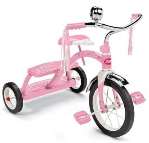 Girls Classic Dual Deck Tricycle