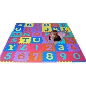 36 Sq Ft Alphabet and Number Floor Mat