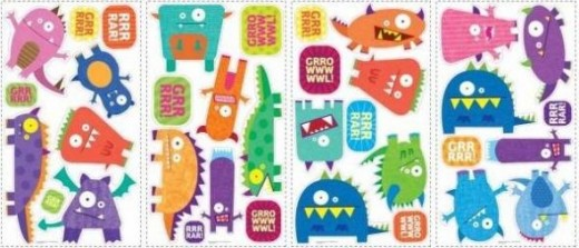 Monsters Peel & Stick Wall Decals