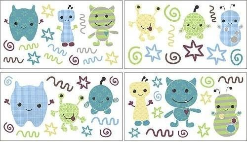 Peek-A-Boo Monsters Removable Wall Appliques