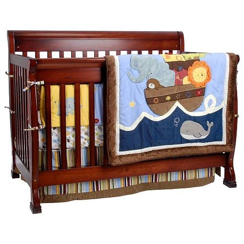 6 Piece Ark Animal Crib Set