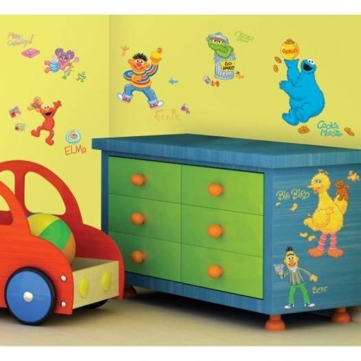Sesame Street Peel & Stick Wall Decals