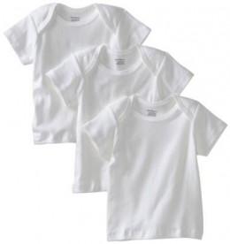 Gerber Unisex-Baby Newborn 3 Pack Pullon Short Sleeve Shirt
