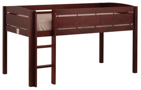 Twin over Twin Bunk Bed with Angled Ladder