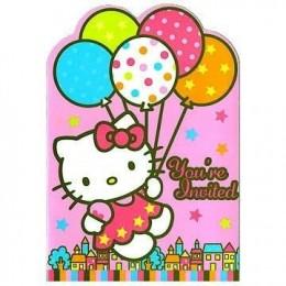 Amscan Hello Kitty Balloon Dreams Die-Cut Invitations