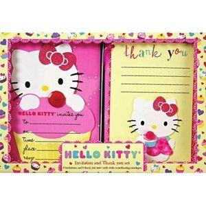 Hello Kitty Invite & Thank You Set