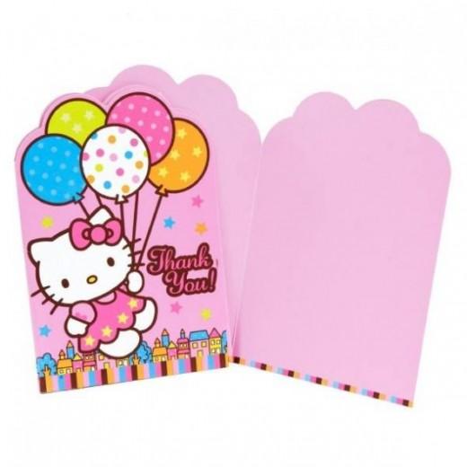 Hello Kitty Balloon Dreams Die-Cut Thank You Cards