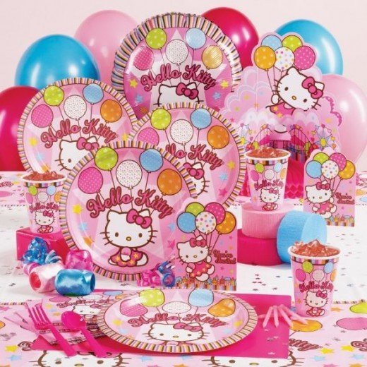 Hello Kitty Hello Kitty Balloon Dreams Deluxe Party Pack for 8