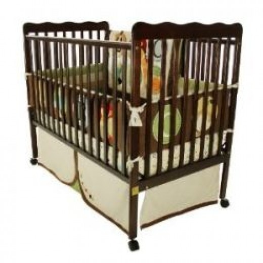 Dream On Me Classic 2 in 1 Convertible Stationary Side Crib