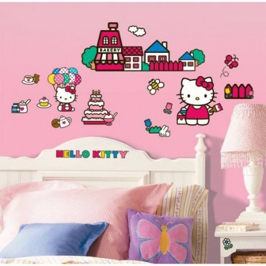 Hello Kitty The World of Hello Kitty Peel and Stick Wall Decals