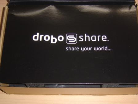 DroboShare box opened
