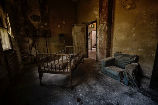 To think that children slept in these cribs.