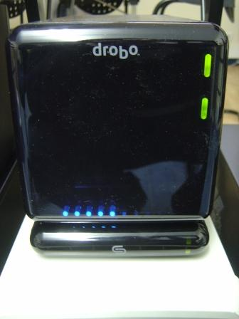 Drobo and DroboShare connected (front)