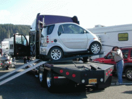 Smart Car On RV Tractor Unit