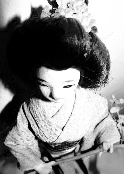 Close up and from above, this doll shows the wistful look that I love about her.