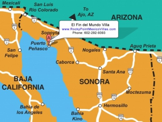 Rocky Point Mexico Map
