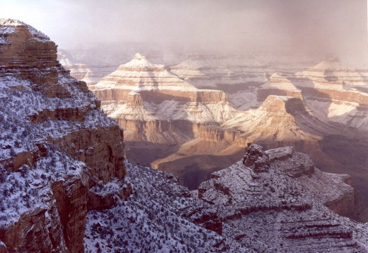 Snow in Grand Canyon picture