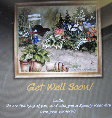 Thanks for the electronic get well wishes!