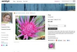 Screen capture of Society6 8/16/12
