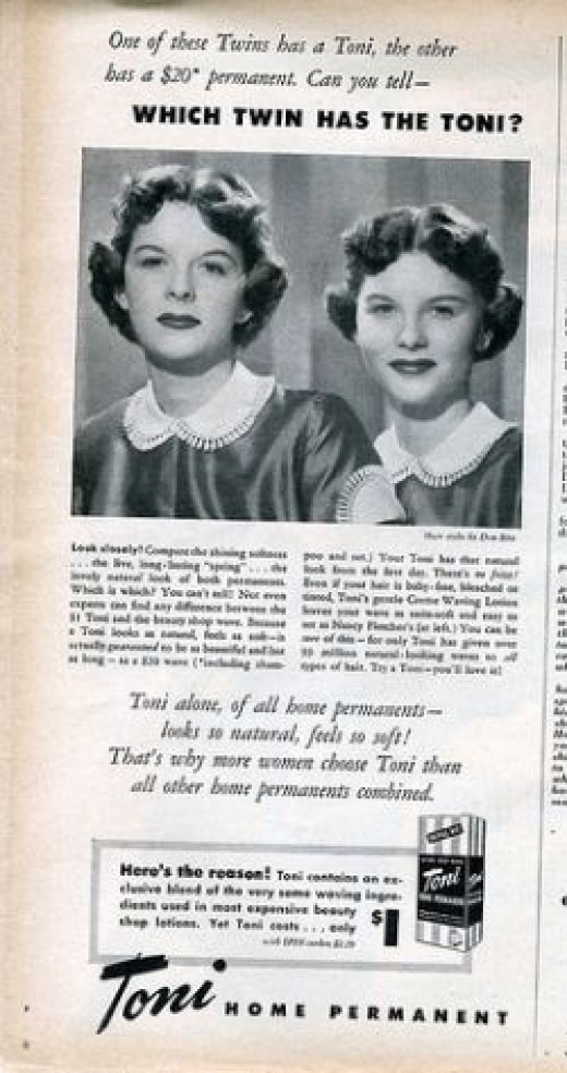 Early Toni Home Permanent advertisement