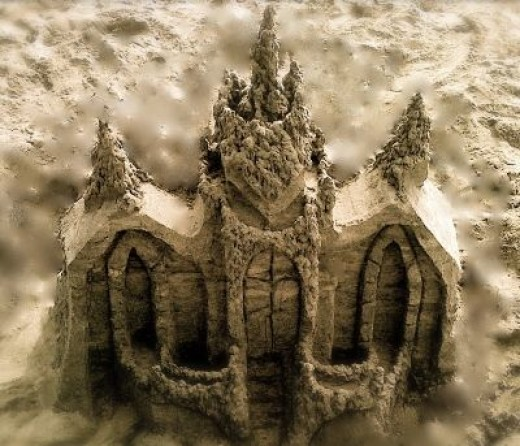 """One of my """"church"""" castles using a combination of dripping and carving."""