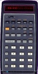 HP 80, the first hand-held financial calculator