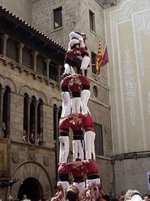 Castellers in Lleida