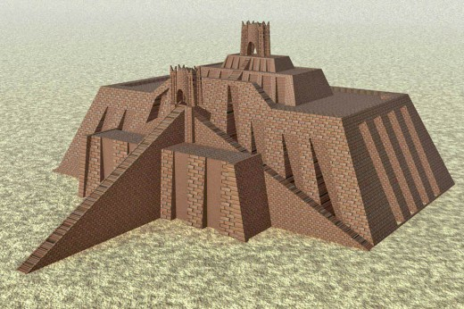 Reconstruction of Ur-Nammu's ziggurat