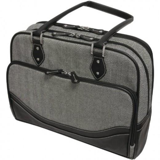 Mobile Edge Classing Herringbone Laptop Tote (Large)
