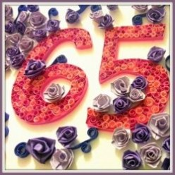 Paper Quilling How To - 65th Birthday Card Tutorial