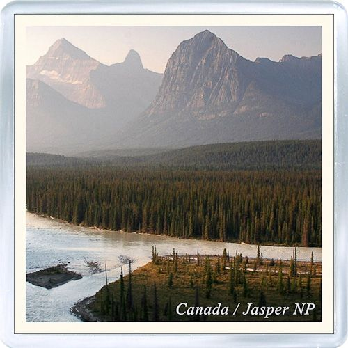 acrylic fridge magnet canada jasper national park