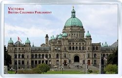 acrylic fridge magnet canada victoria british columbia parliament building