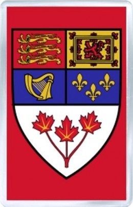 acrylic fridge magnet canada coat of arms-of-canada