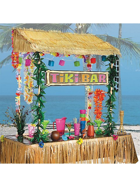 Tiki Bar Hut Set