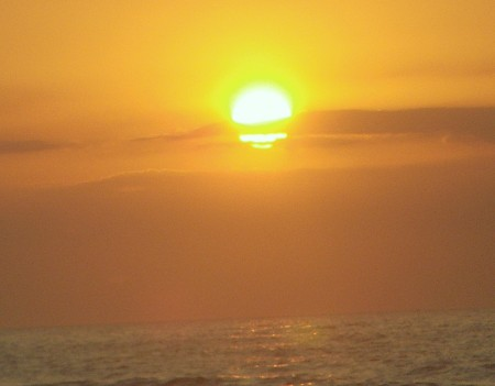 Green Flash at Cocoa Beach, FL (05/09/2009)