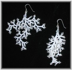 Beaded Earrings for Winter
