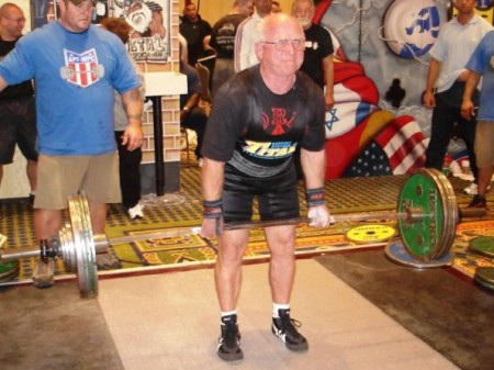 71 year old powerlifter Ron Edwards.