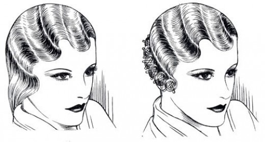Finger Wave Hair Styles: 1920's Womens Hairstyles