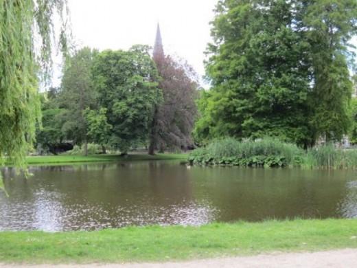 City park near our hotel