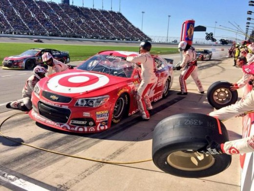 Rookie Kyle Larson nearly won Sunday's event despite not being a Chase contender